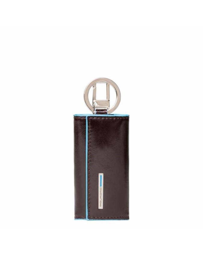 PIQUADRO - Portachiavi con moschettone Blue Square - Mogano - PC1253B2/MO