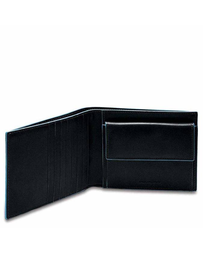 PIQUADRO - Portafoglio Uomo in Pelle Blue Square - Nero - PU1239B2/N
