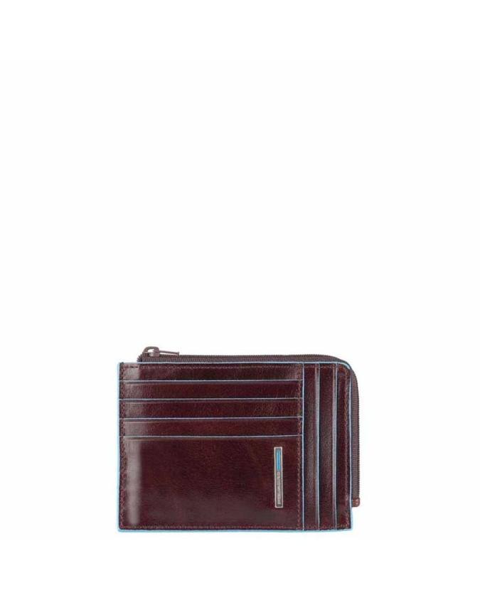 PIQUADRO - Bustina Portamonete Documenti e Carte di credito Blue Square - Mogano - PU1243B2/MO