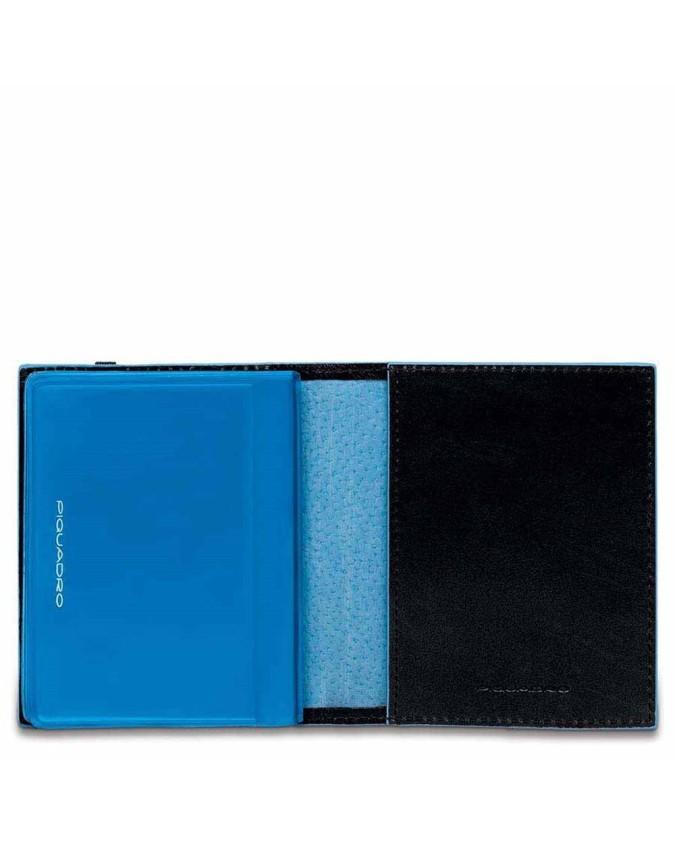 PIQUADRO - Porta carte di credito tascabile nero - Nero -