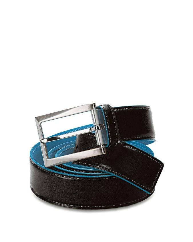 PIQUADRO - Cintura con fibbia ad ardiglione altezza - Nero -