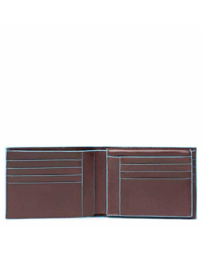 PIQUADRO - Portafoglio uomo con porta documenti mogano - Mogano