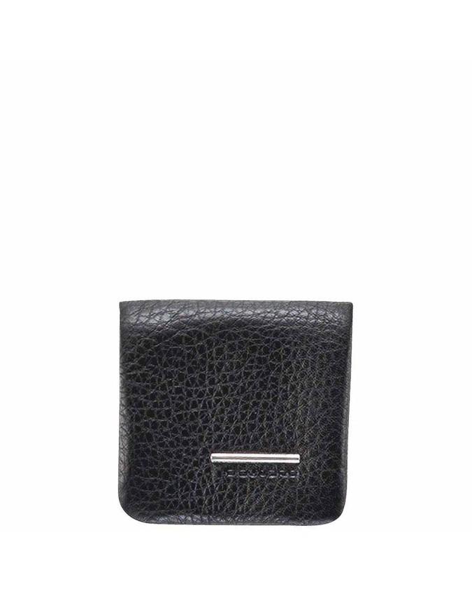 PIQUADRO - Porta spiccioli morbido in pelle nero - Nero -