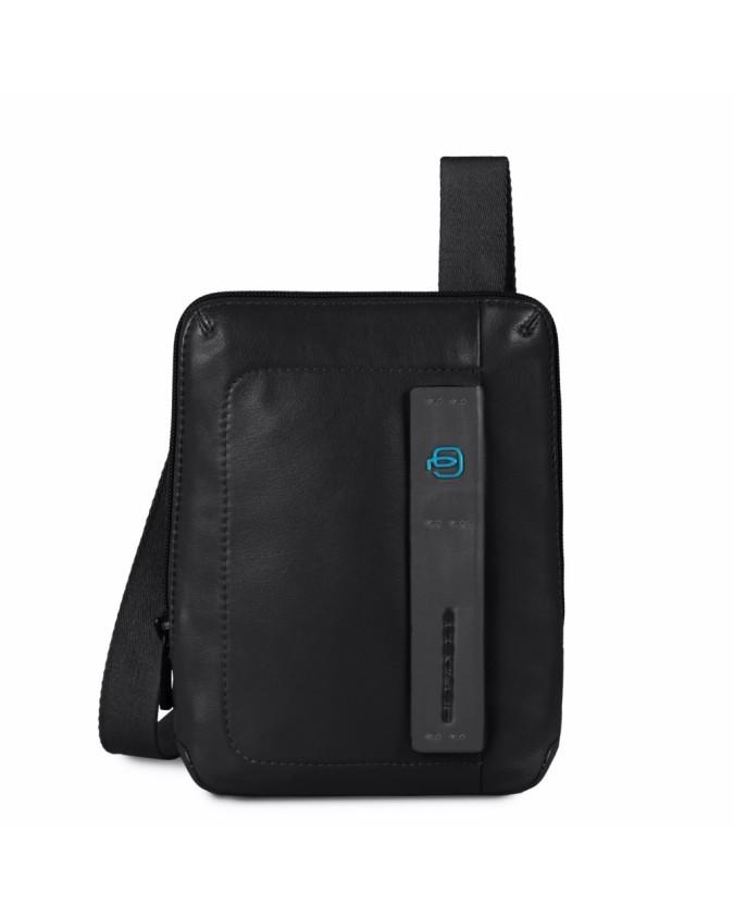 PIQUADRO - Borsello per iPad ½ mini in pelle nero - Nero -
