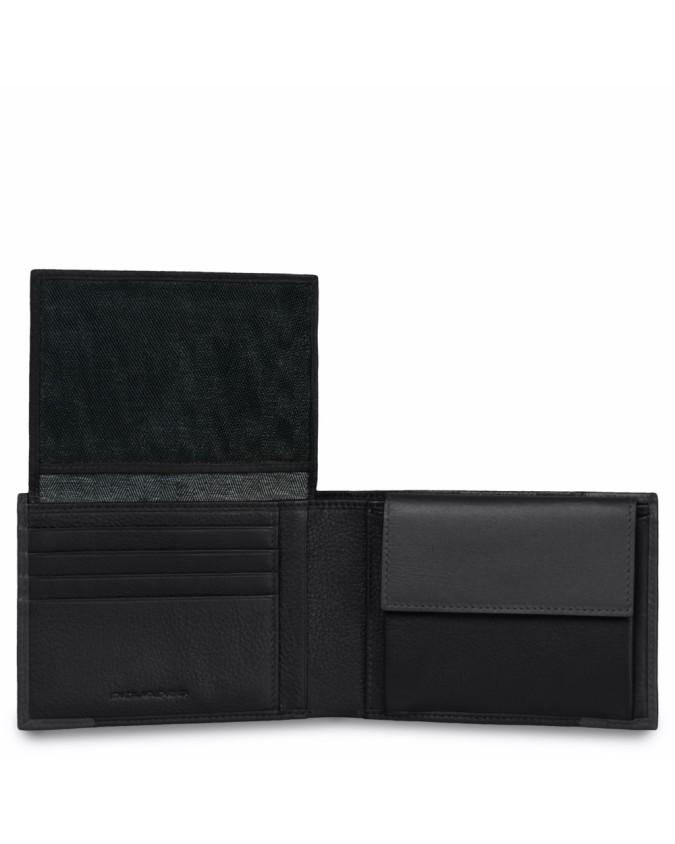 PIQUADRO - Portafoglio uomo in pelle nero - Nero - PU1392P15/N