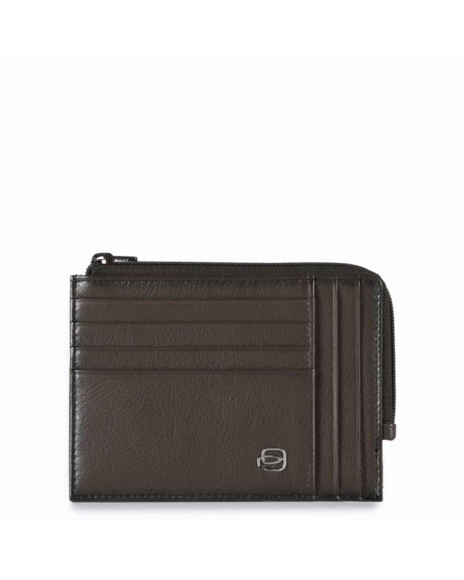 PIQUADRO - Bustina portamonete documenti e carte di credito -