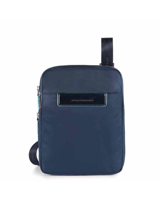PIQUADRO - Borsello porta IPad ½ Air esp.bile pelle - Blu -