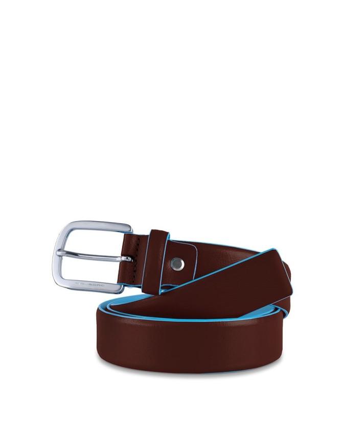 PIQUADRO - Cintura 35mm fibbia ad ardiglione metallo - Mogano -