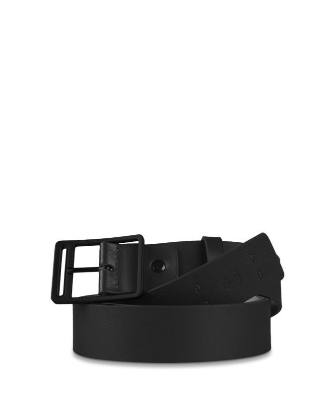 PIQUADRO - Cintura 35mm in pelle nero...