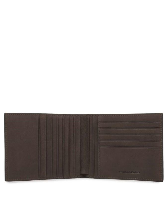 PIQUADRO - Portafoglio uomo, porta cartedi credito - Testa di