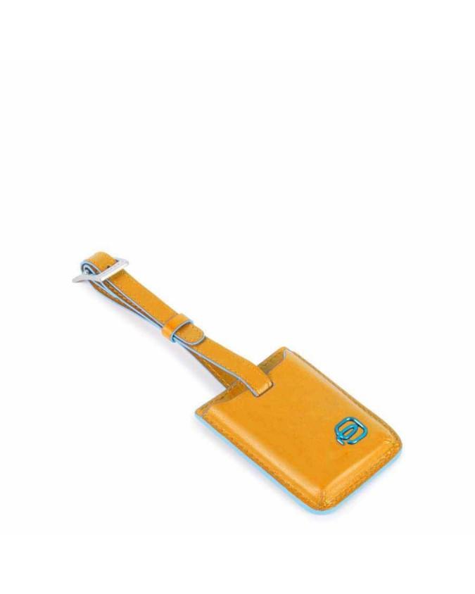 PIQUADRO - Address tag con CONNEQU in pelle - Giallo -