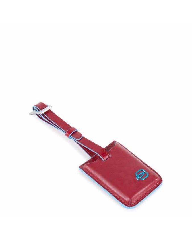PIQUADRO - Address tag con CONNEQU in pelle - Rosso - AC3955B2/R