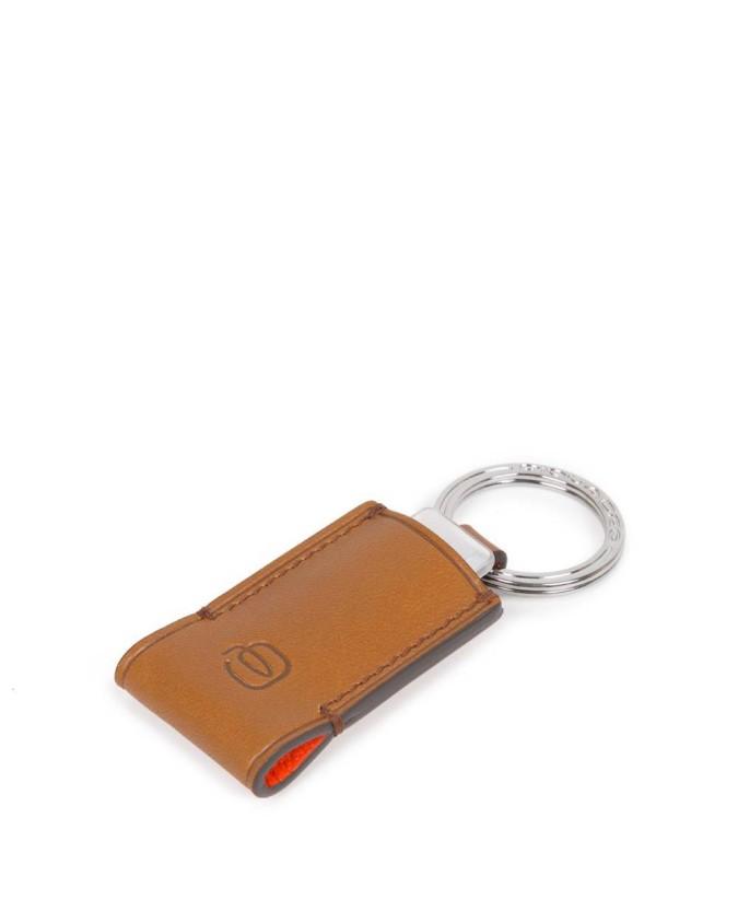Piquadro - Portachiavi in pelle con chiavetta USB 16GB -