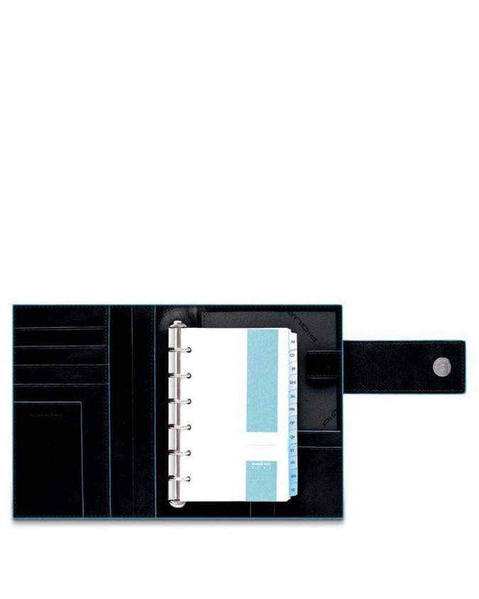 PIQUADRO - Organizer grande con patta - Nero - AG1075B2/N