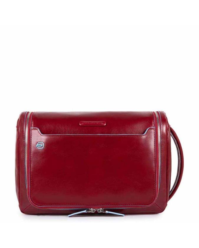 PIQUADRO - Beauty grande in pelle - Rosso - BY3853B2/R