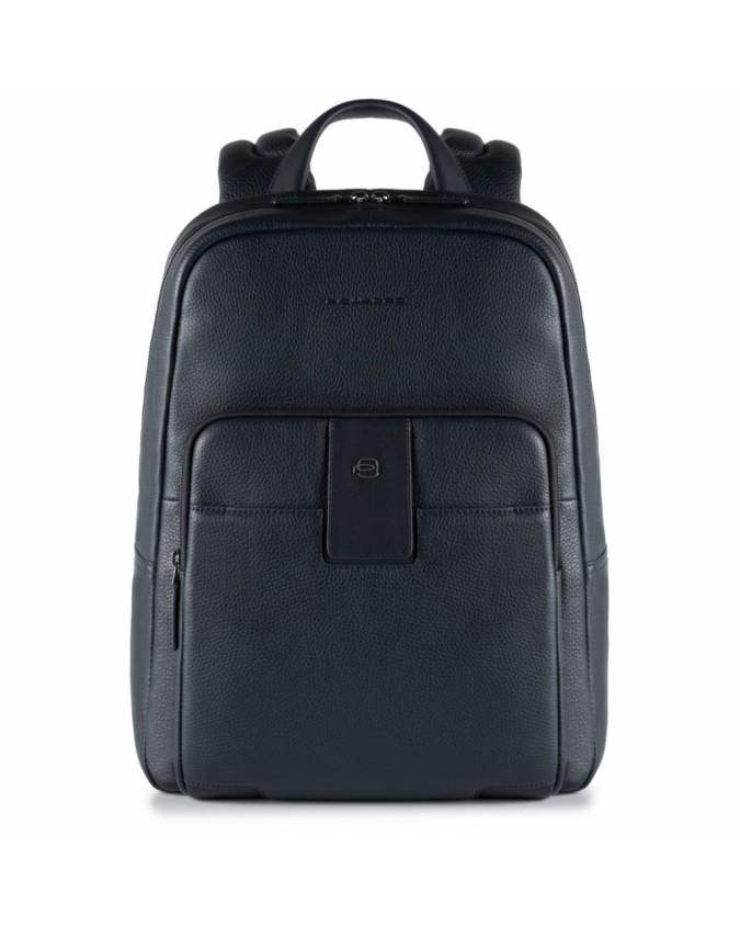 PIQUADRO - Zaino in pelle porta PC e porta iPad - Blu - Linea ILI CA3999S86/BLU
