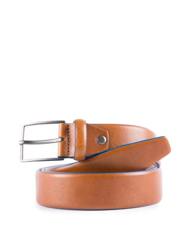 PIQUADRO - Cintura 35 mm in pelle con fibbia ad ardiglione -
