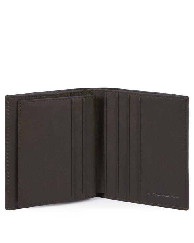 PIQUADRO - Porta carte di credito in pelle - Testa di moro -