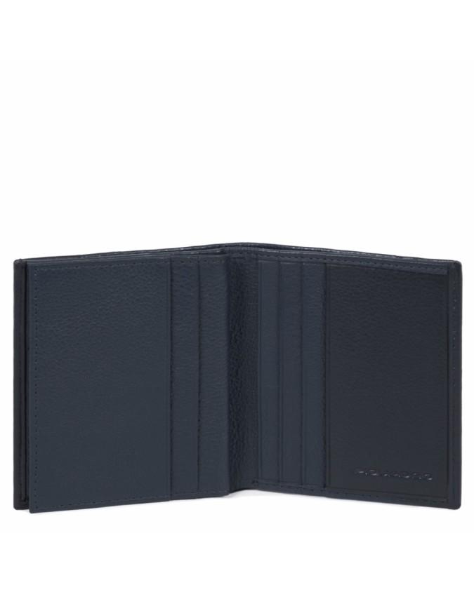 PIQUADRO - Porta carte di credito in pelle - Blu -