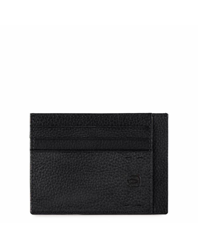 PIQUADRO - Porta carte di credito in pelle - Nero - PP2762P15S/N