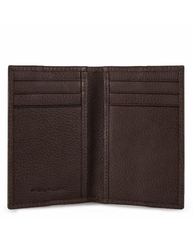 PIQUADRO - Porta carte di credito verticale in pelle - Testa di