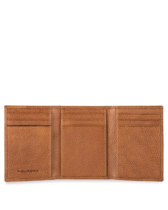 PIQUADRO - Porta carte di credito con volantino in pelle -
