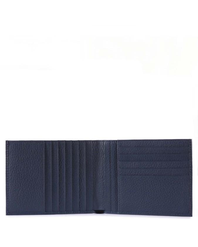 PIQUADRO - Portafoglio uomo porta carte di credito in pelle -