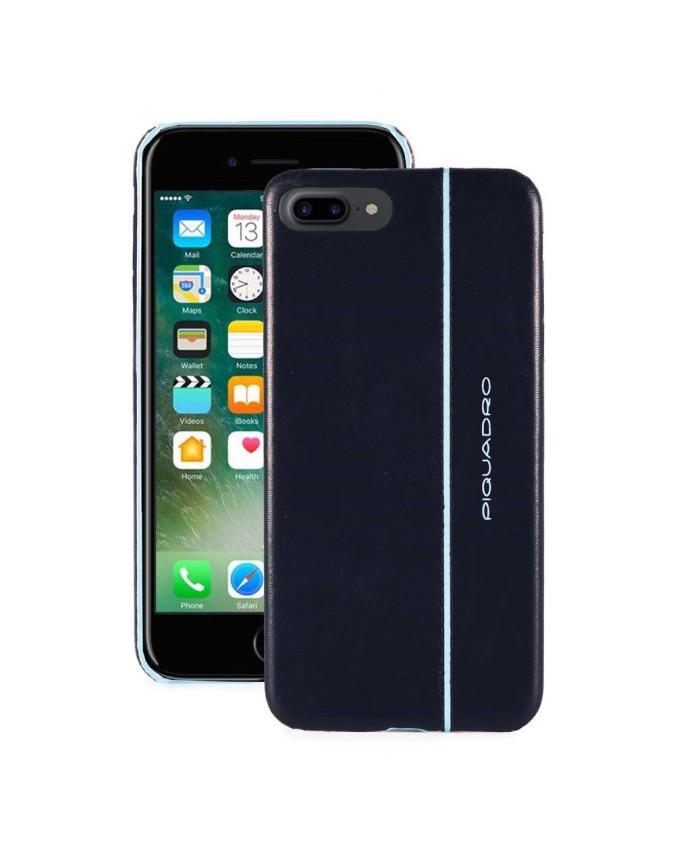"""PIQUADRO - Cover iPhone ½7 Plus_iPhone ½8 Plus 5,5"""" - Blu -"""