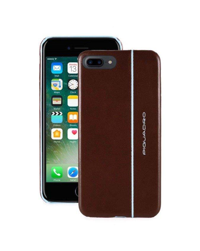 """PIQUADRO - Cover iPhone ½7 Plus_iPhone ½8 Plus 5,5"""" - Mogano -"""