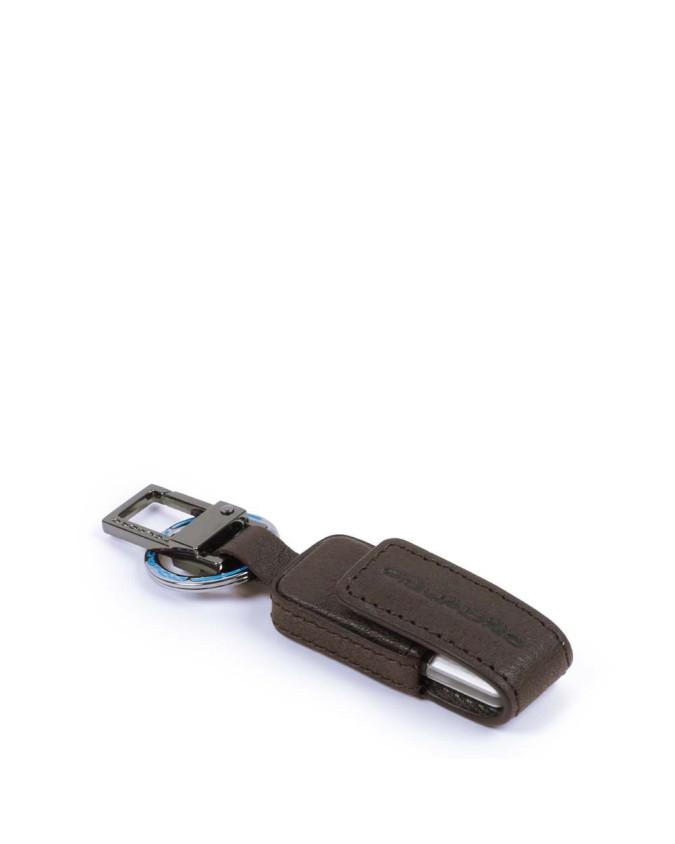 PIQUADRO - Custodia in pelle e chiavetta USB 16 GB - Testa di