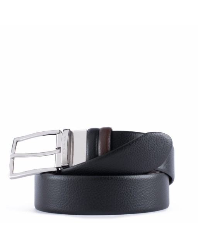 PIQUADRO - Cintura reverse 35 mm in pelle - Nero, marrone -