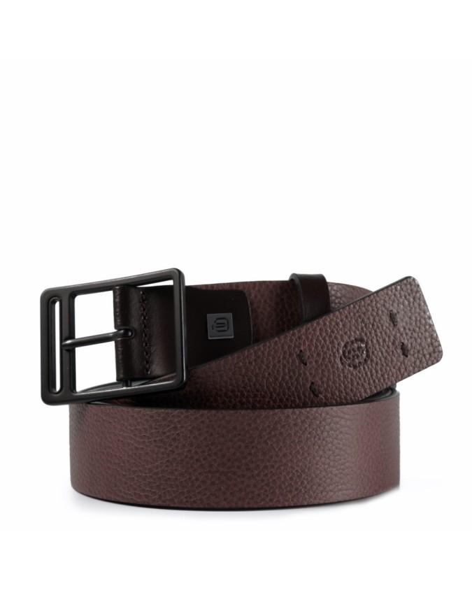 PIQUADRO - Cintura 35 mm in pelle - Testa di moro -