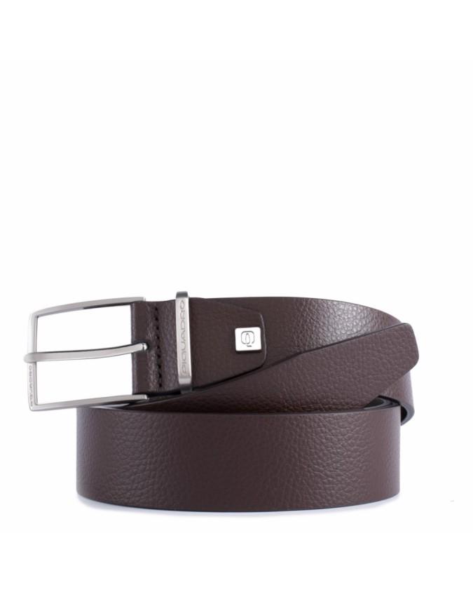 PIQUADRO - Cintura 35 mm,pelle passante in metallo,ardiglione -