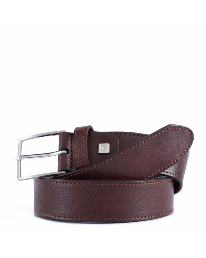 PIQUADRO - Cintura 35 mm in pelle con ardiglione - Testa di
