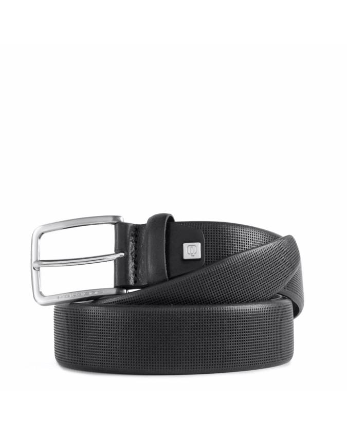 PIQUADRO - Cintura 35 mm in pelle stampata con ardiglione -