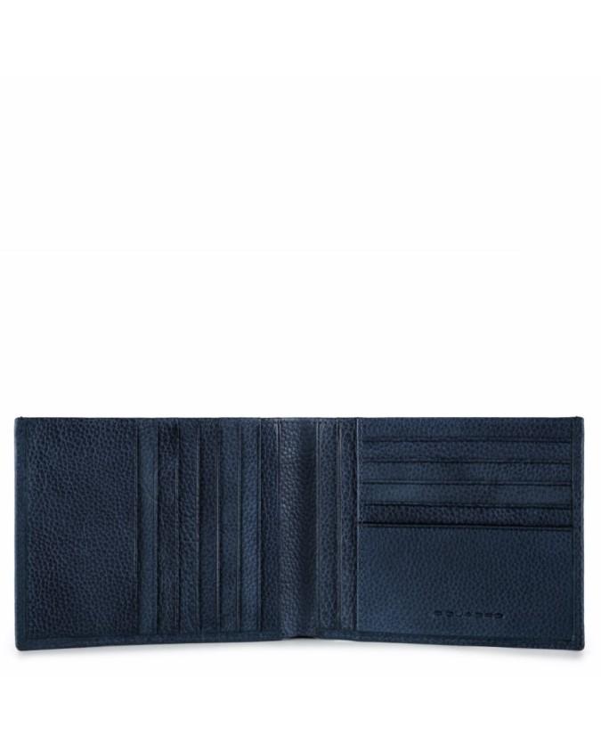 PIQUADRO - Portafoglio uomo in pelle - Blu - PU1241P15S/BLU2