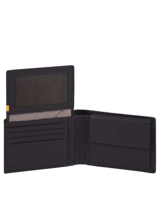 Piquadro - Portafoglio uomo con porta documenti, portamonete