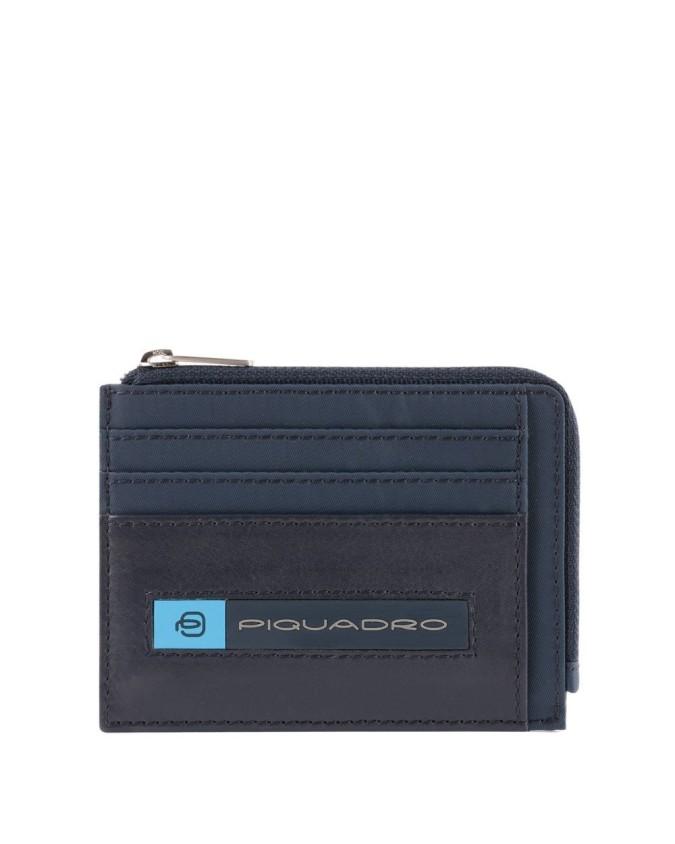Piquadro - Bustina in nylon rigenerato portamonete PQ-Bios -