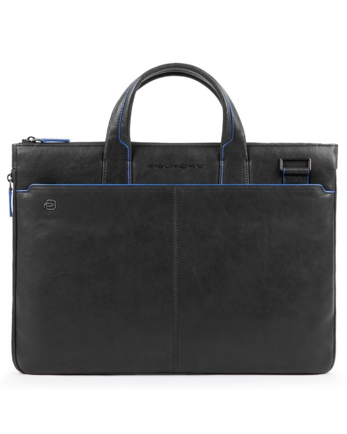 Piquadro - Cartellina sottile in pelle due manici Blue Square Special - CA4021B2S