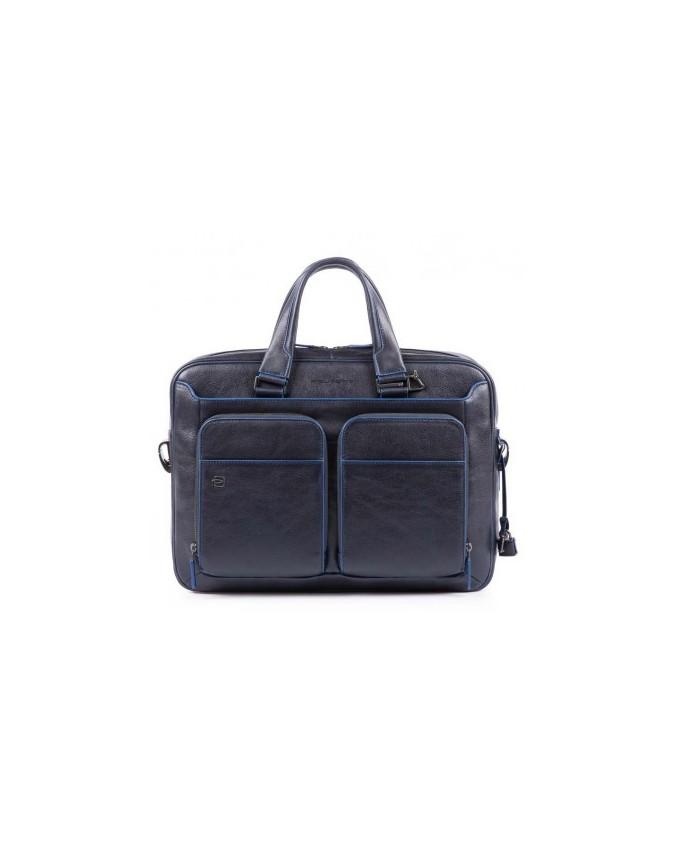 Piquadro - Cartellina sottile due manici in pelle Blue Square Special - CA2849B2S