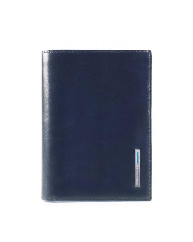 PIQUADRO - Portafoglio uomo con porta spiccioli in pelle - Blu - PU4520B2R/BLU2