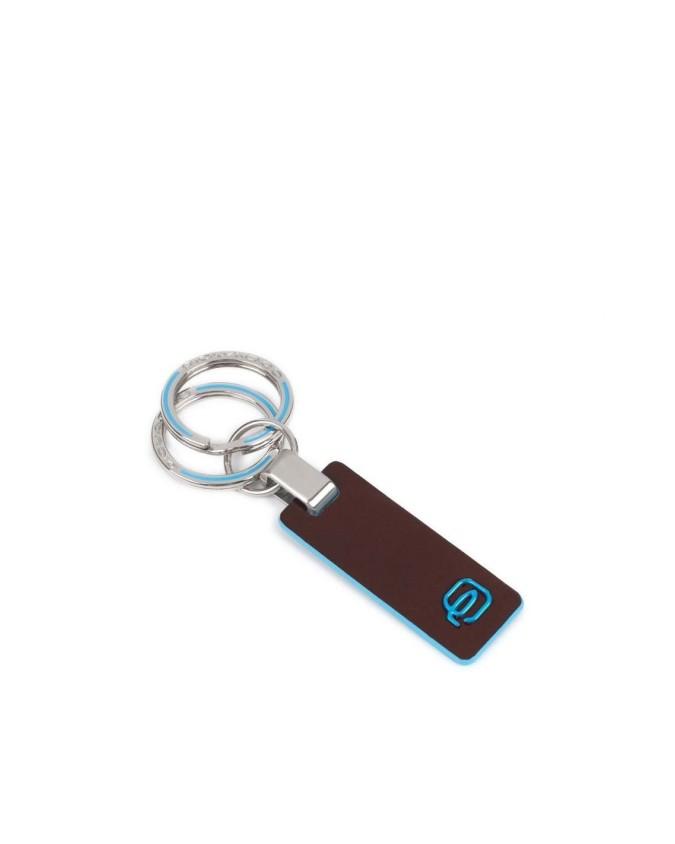 PIQUADRO - Portachiavi in pelle con anella e moschettone - PC3755B2
