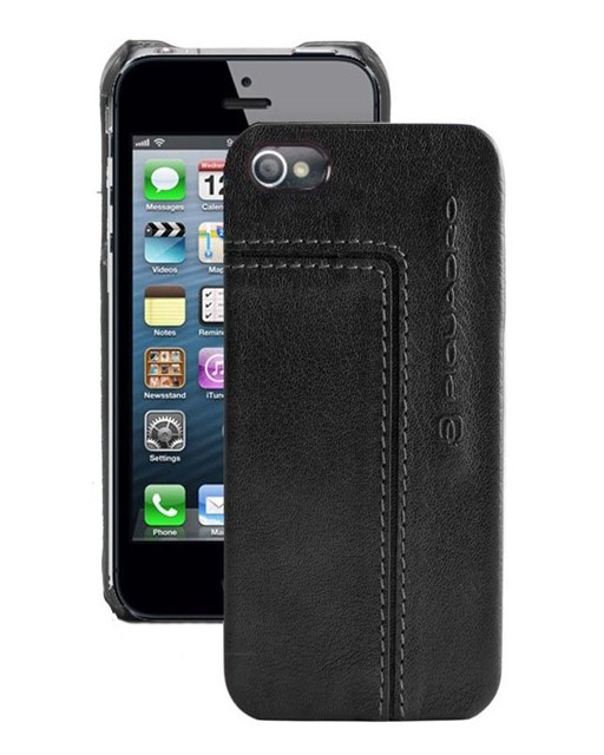 PIQUADRO - Custodia per iPhone 5 ½ e 5S ½ a guscio - Nero - AC3053VI/N