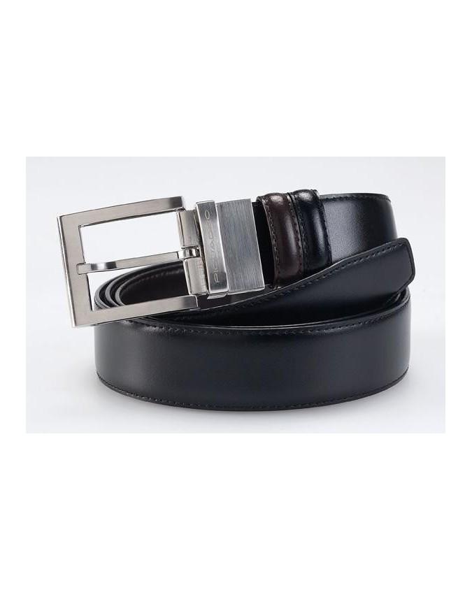 PIQUADRO - Cintura con fibbia ad ardiglione altezza - Nero