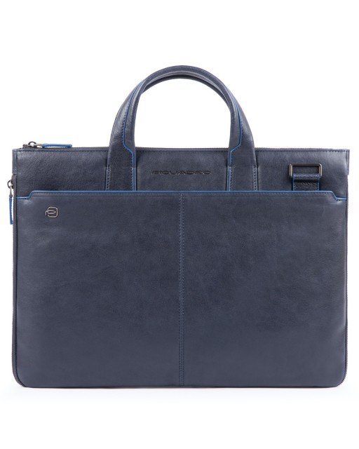 Piquadro - Cartellina sottile in pelle due manici Blue Square