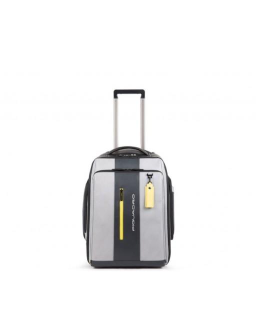 Piquadro - Trolley cabina/zaino porta PC e iPad® personalizzabile con placca USB e micro-USB, CONNEQU BagMotic - BV4817UB00BM