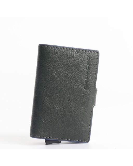 Piquadro - Porta Carte di Credito pelle e metallo - PP5472B2SR
