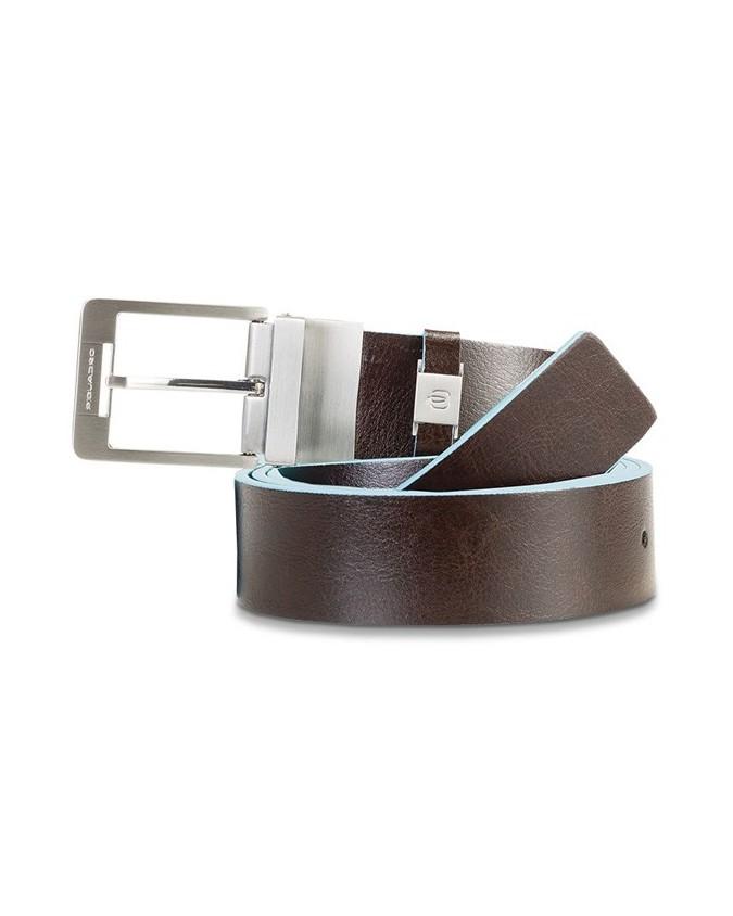 PIQUADRO - Cintura uomo 35mm con interno logato in pelle -