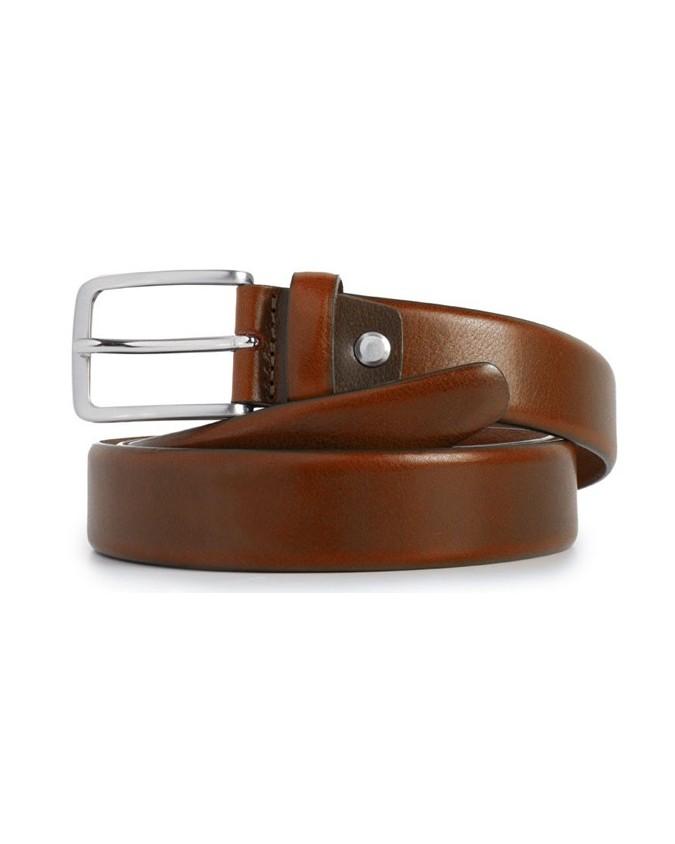 PIQUADRO - Cintura 30mm in pelle arancione - Arancio -