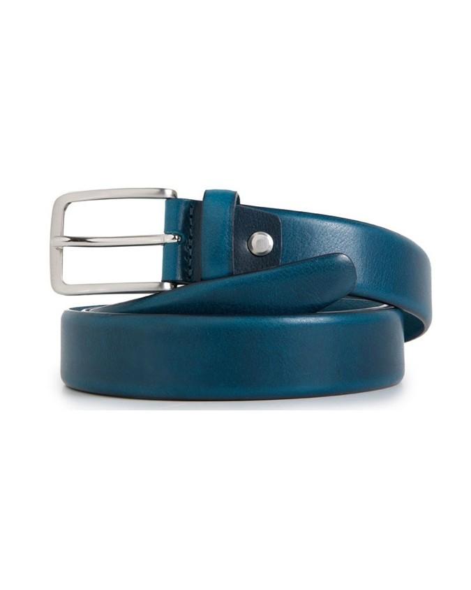 PIQUADRO - Cintura 30mm in pelle blu - Blu - CU3902C56/BLU